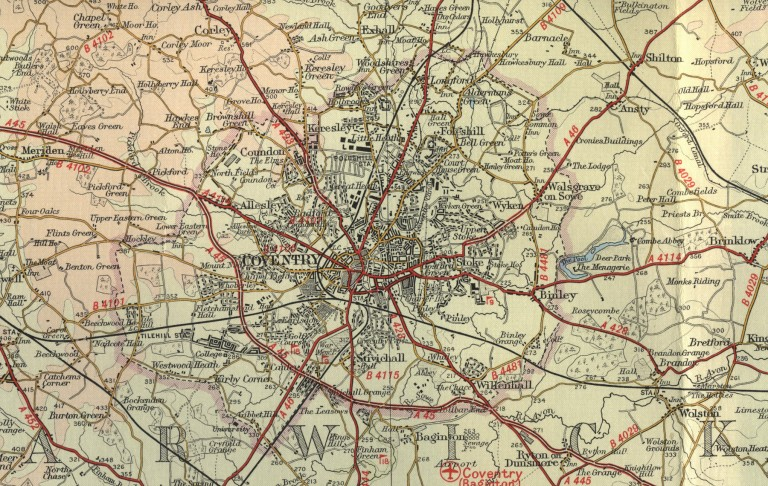 Old Map Coventry